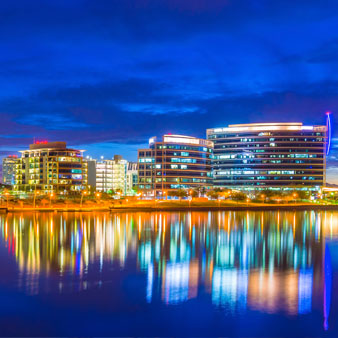 Reflection of buildings on Tempe Town Lake